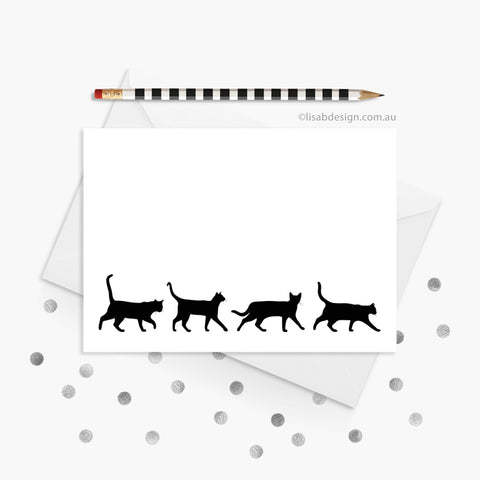 Cat Silhouette Greeting Card