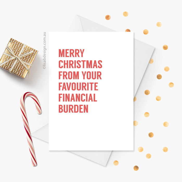 Funny Christmas Card for Mum / Dad