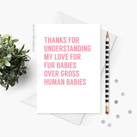 Fur Babies Card for Mum / Dad