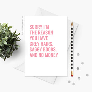Grey Hairs Mother's Day Card