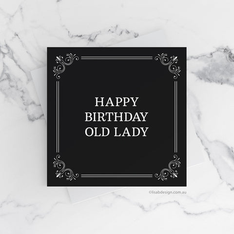 Happy Birthday Old Lady Card