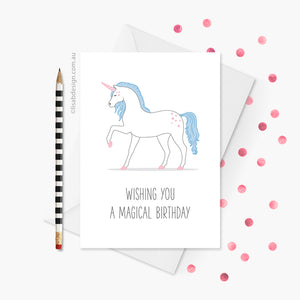 Magical Unicorn Birthday Card