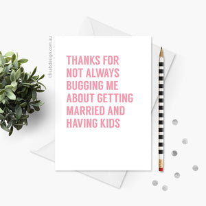 Funny Card for Mum / Dad