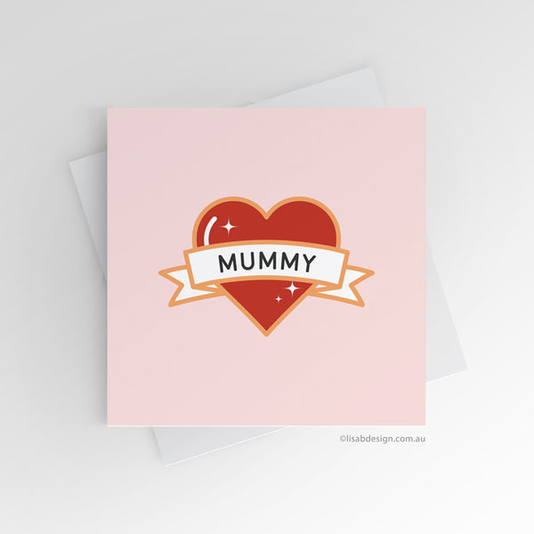 Mum / Mom Heart Custom Card