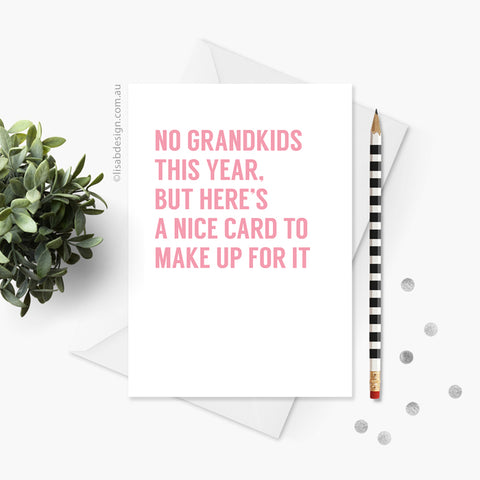 Grandkids Card for Mother's Day / Father's Day