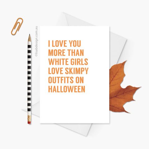 Funny Halloween / Anniversary Card