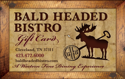 bald headed bistro gift card