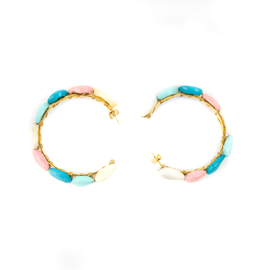 Shell Ya Hoop Earrings Multi