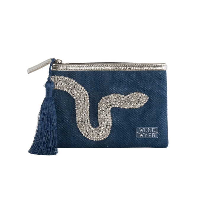 Navy Ssssshiny Clutch