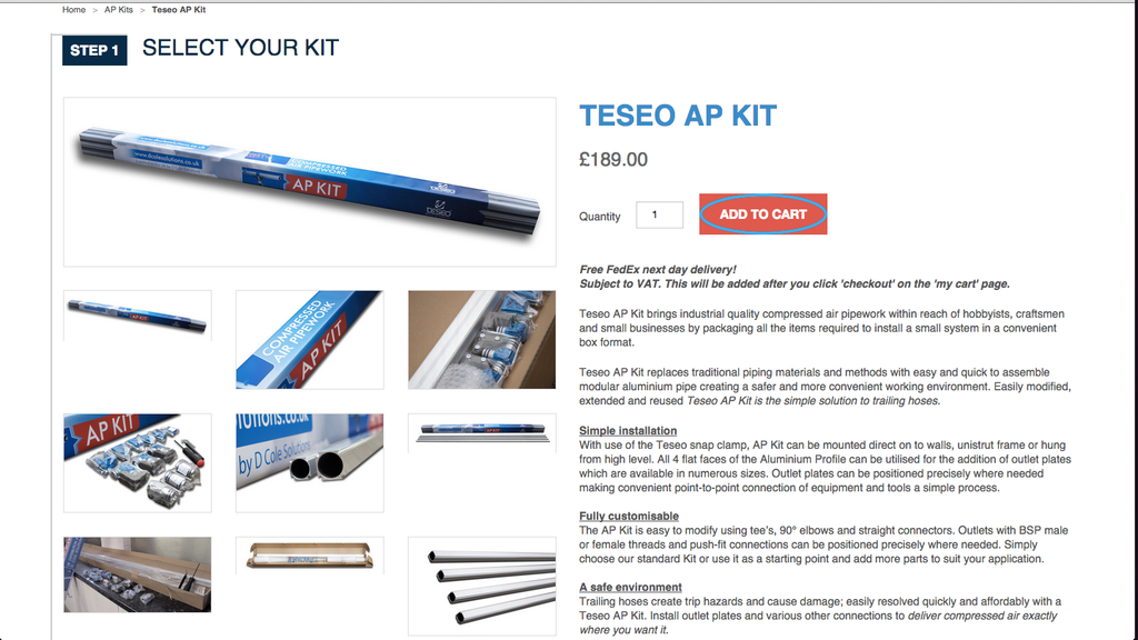 Teseo AP Kit order process