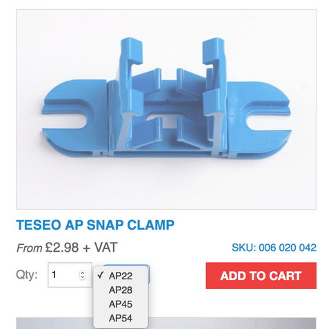 Teseo AP Snap Clamp