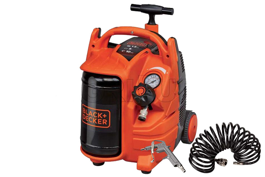 Black & Decker BD 195/5-MY-T 5L Air Compressor C/W Blowgun & Hose