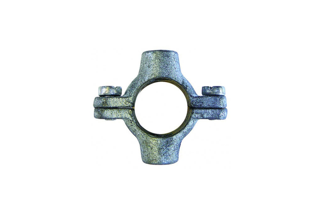 Double M10 tapping pipe ring galvanised