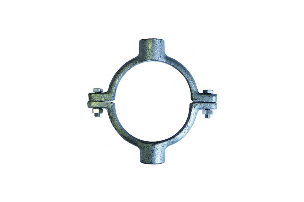 Double M12 tapping pipe ring galvanised