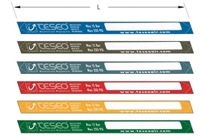 Teseo Adhesive Colour Stickers dimensional drawing
