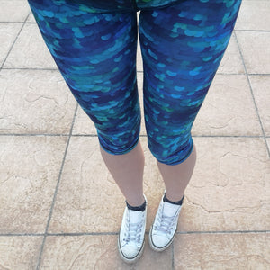 Luesque VERSION 3 Ocean Majesty Capri Length Leggings
