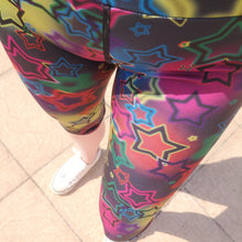 Load image into Gallery viewer, Luesque VERSION 3 Neon Stars Capri Length Leggings