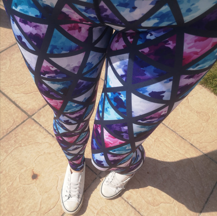 Luesque VERSION 3 Stained Glass Full Length Leggings