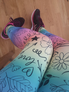 Luesque VERSION 3 Cheryl's Doodles Full Length Leggings