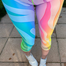 Load image into Gallery viewer, Luesque Neon Zebra Capri Length Leggings