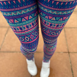 Luesque Aztec Springtime NEW Yoga Band Casualwear Leggings