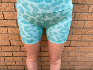 VERSION 3 Mint Leopard Shorts