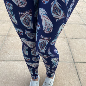 Luesque Tribal Feathers Casualwear Leggings