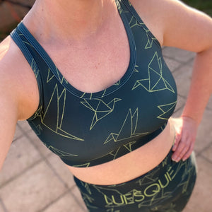 Luesque Origami Birds Crop Top
