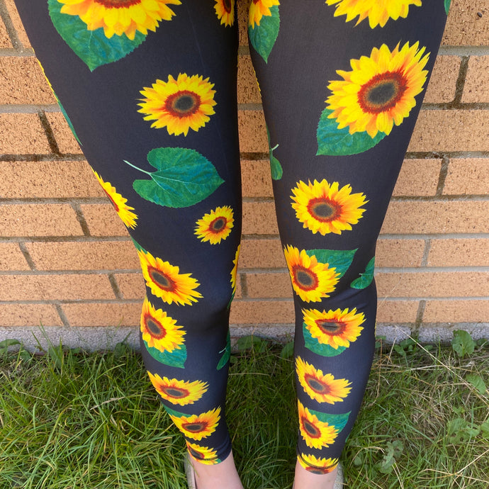 VERSION 3 Sunflowers Full Length Leggings