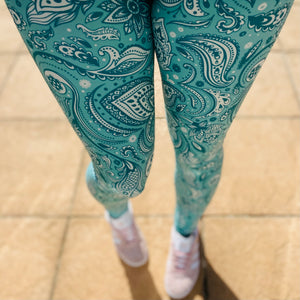 Luesque Nothing Com-Paisley To You NEW Yoga Band Casualwear Leggings