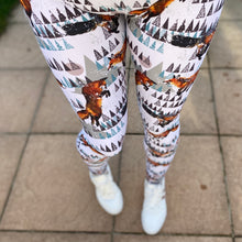 Load image into Gallery viewer, Luesque Frolicking Foxes Full Length Leggings