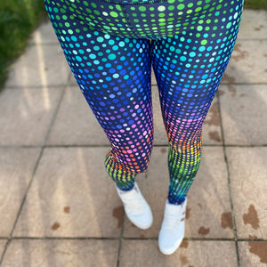Luesque Disco Dots Full Length Leggings (slight seconds)
