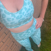 Load image into Gallery viewer, VERSION 3 Mint Leopard Full Length Leggings