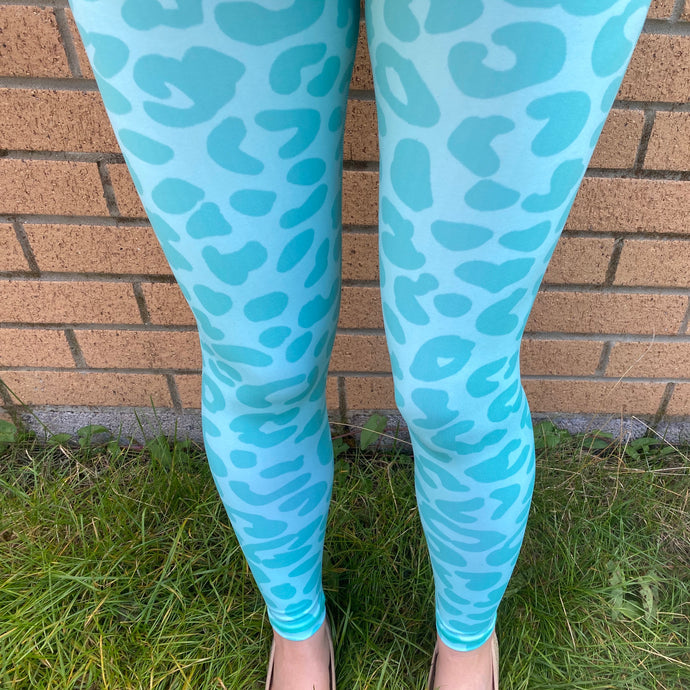 VERSION 3 Mint Leopard Full Length Leggings