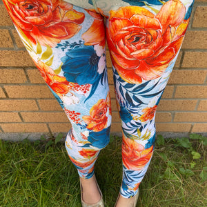 Luesque VERSION 3 Floral Sunset Full Length Leggings
