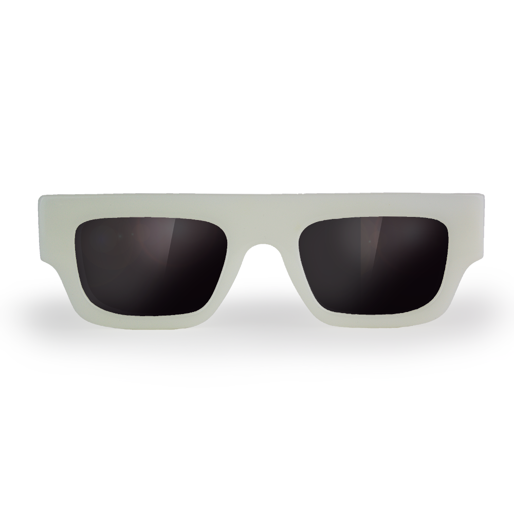 The Ambitious Outsider | Sunglass | Ghost White - Framed Eyewear