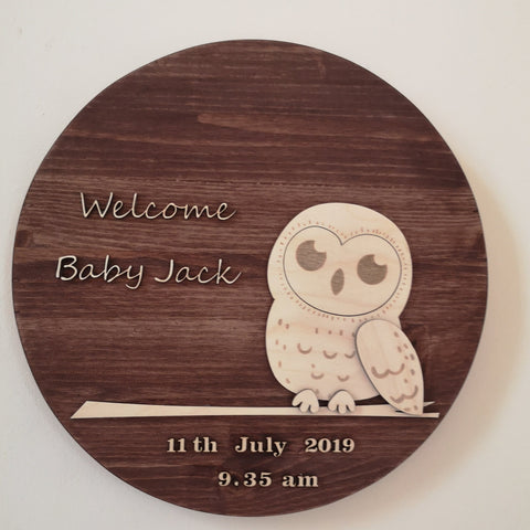 Personalised Baby / Wedding Plaque