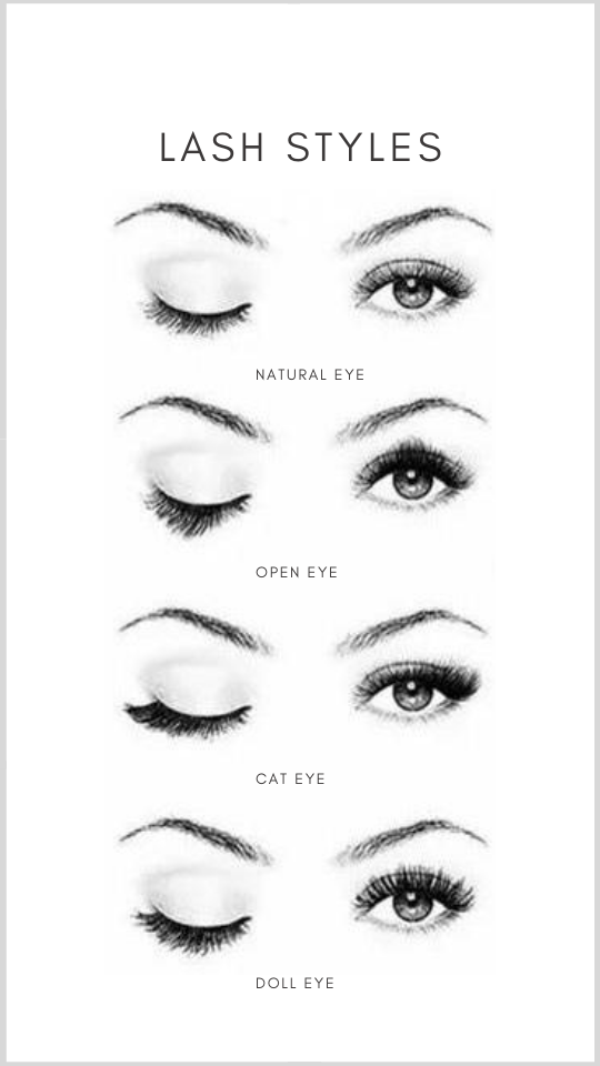lash extensions style and designs