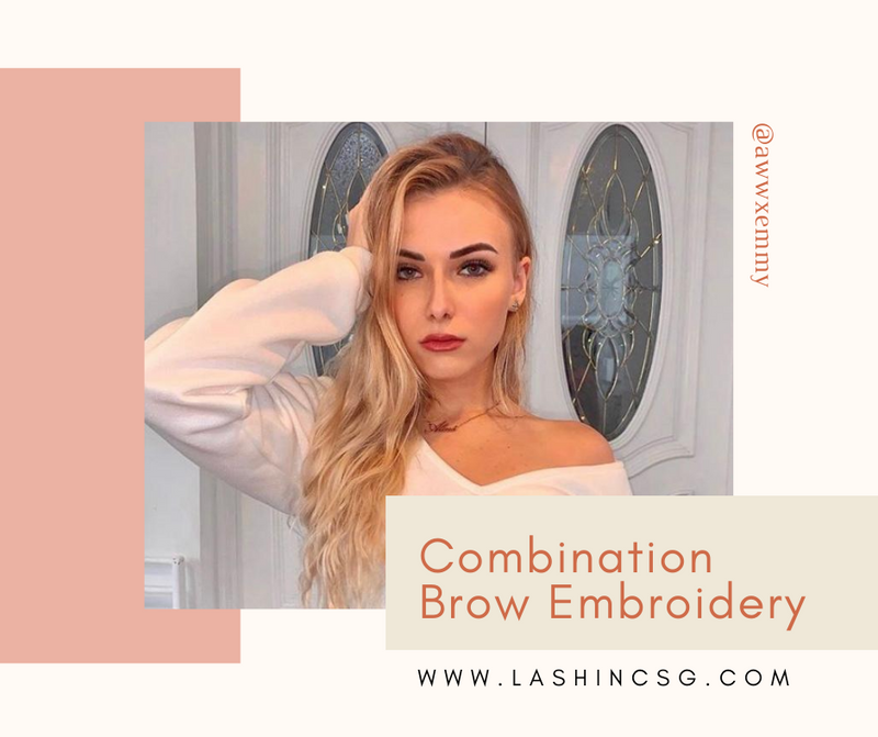 Combination Eyebrow Embroidery Singapore