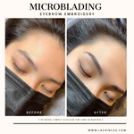 Natural Feather Stroke Microblading Eyebrow Embroidery Singapore