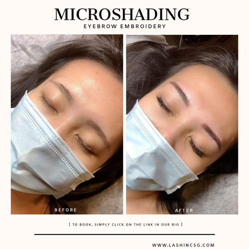 Natural feather stroke Microshading Eyebrow Embroidery Singapore