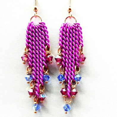 Handmade Tassel Crystal Earrings