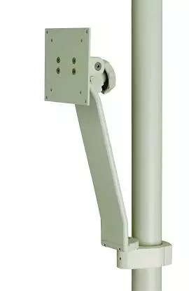 Monitor Support, Vertical Post Mounted, Gray