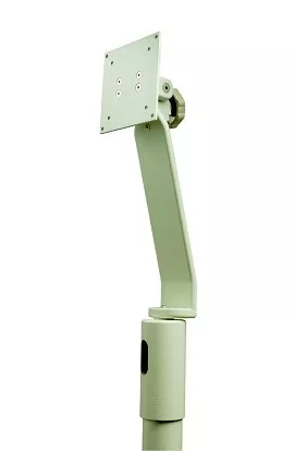 Monitor Support, Top Post Mounted, Gray