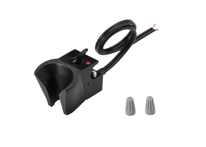 Holder, Electric Auto, Normally Open, Black
