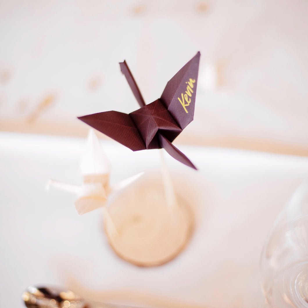TABLE CARDS – STANDING CRANE