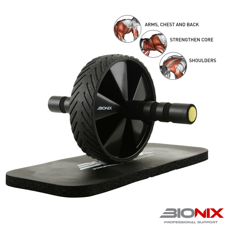 Ab-Wheel Roller With Knee Mat - Gallant Sport
