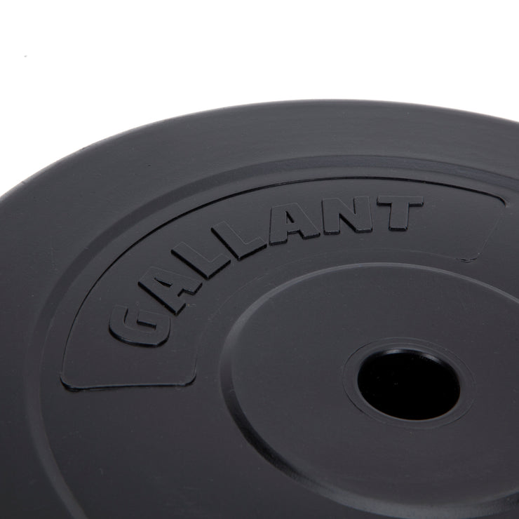 zoomed in image of the black Gallant weight plate