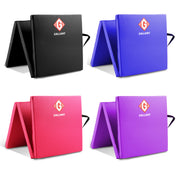 Black tri-folding mat, Blue tri-folding mat, Pink tri-folding mat, Purple tri-folding mat