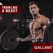 Male model lifting Gallant weight plates